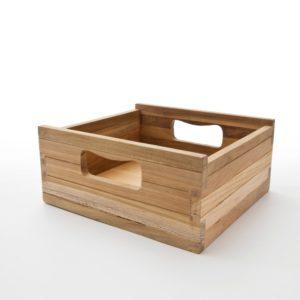 TBS001   Bordeaux Teak Crate Small for CA583, CA585, CA598 (Set of 3)